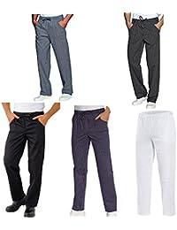 Amazon.it  Bianco - Pantaloni da chef   Ristorazione  Abbigliamento bdecf8d0d682