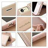 Nouske iPhone 6 6s 4.7 Zoll Stand Hülle Etui with Karte Halterung Leder Wallet Klapphülle Flip Book Case TPU Cover Bumper Tasche Ultra Slim, Gold - 7