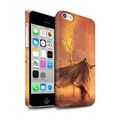 Offiziell Chris Cold Hülle / Matte Snap-On Case für Apple iPhone 5C / Kriegsheld/Warlock Muster / Dämonisches Tier Kollektion Kriegsheld/Warlock