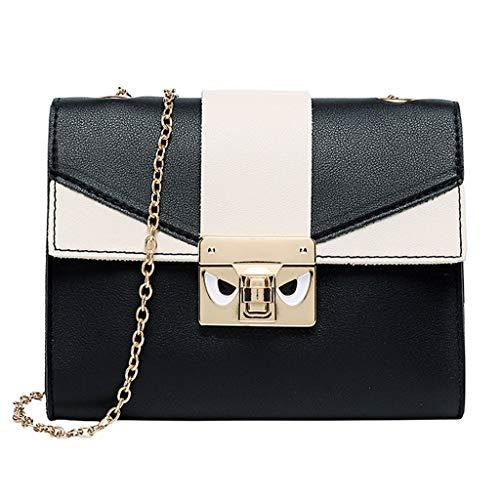 COZOCO Mode Dame Umhängetaschen kleiner Rucksack Brief Geldbörse Handy Messenger Bag(schwarz)