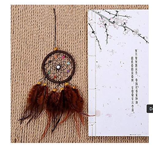 LYEXO Atrapasueños Hechos A Mano con Plumas Decoración De Tapices Tradicionales -Una