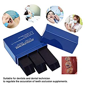 300 Blatt/Box Dental Articulating Papierstreifen Dentallabor Produkte Werkzeug Mund Zähne Pflege Material