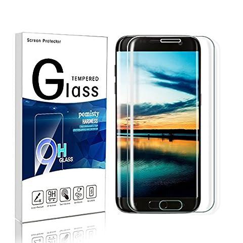 Galaxy S7 Edge Panzerglas Schutzfolie ,Pomisty S7 Edge Panzerglas Displayschutzfolie, Full Coverage Anti-Kratzen Glas Folie mit Samsung Galaxy S7 Edge. (Samsung S7