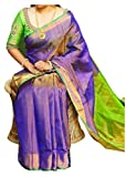 FASHION FLOWERZ Women's Andhra Uppada Tissue Silk Sarees with Blouse, Free Size(FLOFASH-32, Multicolour)