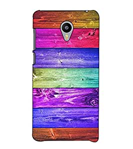 Fuson Designer Back Case Cover for Meizu M3 Note :: Meizu Note 3 (Colourful strips theme)