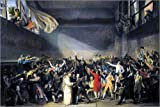 Posterlounge Holzbild 180 x 120 cm: Ballhausschwur von Jacques-Louis David/Everett Collection