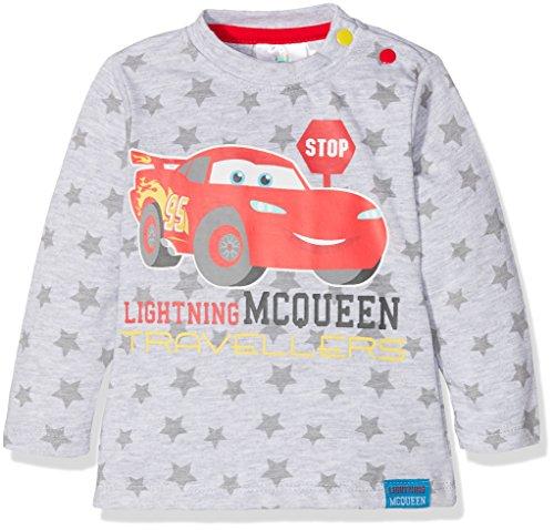 Disney Baby-Jungen T-Shirt 160835, Gris (Gray Melange,Racing Red 19-1763tcx), 2 Jahre Preisvergleich