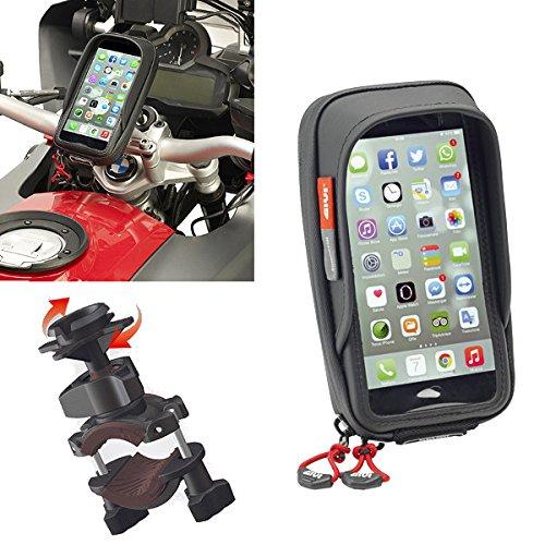 Givi S957B Support étanche de smartphone pour guidon de moto pour iPhone/Galaxy