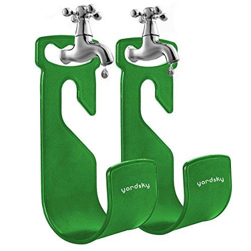 Yardsky Gartenschlauch Halterung Gartenschlauch-Aufhänger Schlauchhalter Garten-Wasserhahn 2er Set (Grün) (Garten-halterung)