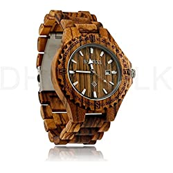 Bewell Wooden Watch Men Wrist watches Wooden Band Quartz Bracelet Gift