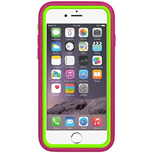 Amzer Crusta edge2edge Rugged Shell Case Cover mit Tempered Glas und Holster für iPhone 6Plus silber/gold _ P Grey, Magenta
