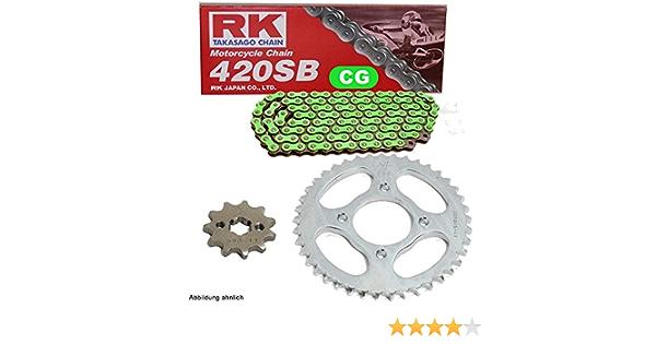 Kettensatz Geeignet Für Kawasaki Kx 85 B Big Wheel 01 20 Kette Rk Cg 420 Sb 130 Offen GrÜn 13 51 Auto