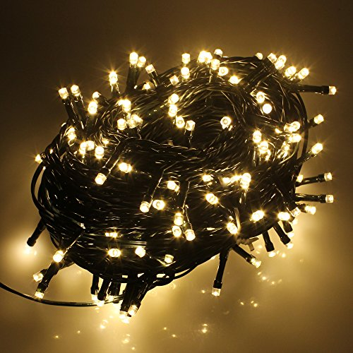 RPGT® 100/200/300/400/500 LED Lichterkette Weihnachten Party-Lichterkette Kette Leuchte (Warmweiss, 500 LEDs)
