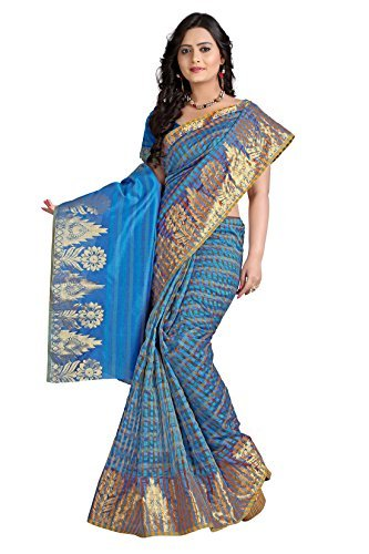 E-Vastram Net Saree (Emsb_Multi Coloured)