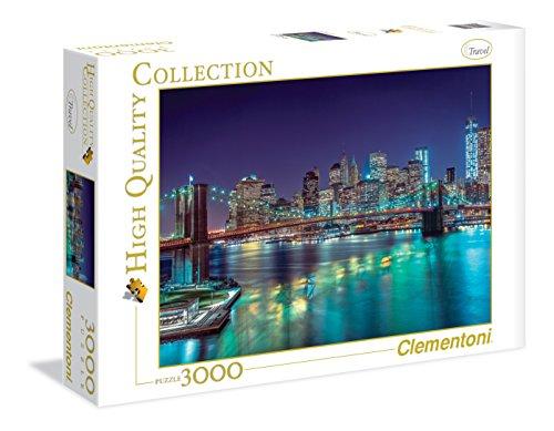 Clementoni - Puzzle 3000 Piezas New York por la Noche (33544)