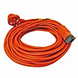 SPARES2GO 30 Metre Mains Cable & Lead Plug for Flymo Lawnmower (30m)