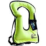 Rrtizan - Giubbotto gonfiabile unisex per adulti per praticare snorkeling in tutta sicurezza, green, x_large