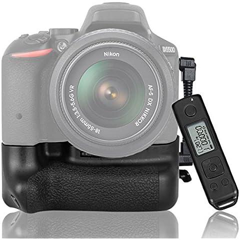 CameraPlus - DR-D5500 Batteria Grip per Nikon D5500 con 2.4G Telecomando senza fili