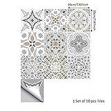 osmanthusFrag 10 Stücke Bodenfliese Wandaufkleber Aufkleber Marokkanischen Stil Kunst Raum Küche Dekor - 20 * 20cm