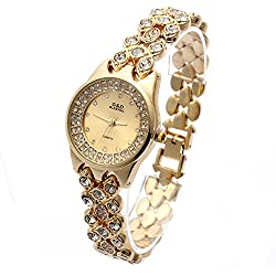 Diamond ladies watch quartz watch bracelet women's table