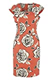 Roman Originals Women's Cotton Mix Floral Rose Print Dress