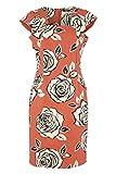 Roman Originals Women's Cotton Mix Floral Rose Print Dress