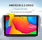 Dasaita 25,9 cm Android 8.0 navigazione GPS per auto per Peugeot 208 2008 auto radio Quad Core 4 GB RAM 32 GB ROM auto stereo unità di testa con sistema multimediale Bluetooth