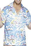 Smiffys, Herren Hawaii Hemd, Hemd, Blau, Größe: L, 25259