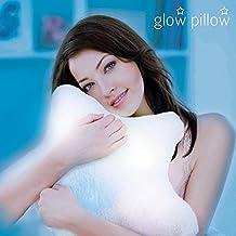 Hasëndad Glow Pillow Almohada LED Estrella, Poliéster, Blanco, 33.5x12x35 cm