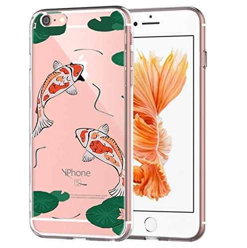 Custodia iPhone 6, Cover iPhone 6s Pacyer® Custodia Chiaro Cristallo Ultra Sottile Morbido Placcatura TPU Gel Case Cover per Apple iPhone 6/6s 4.7 (Cactus ragazza animale) 7