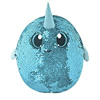 Shimmeez, Sparkling Sequin Soft Plush Animal Toys, Reversible Sequins to Change Colours, (Styles Vary) Medium Size