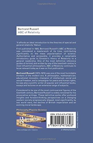 Bertrand Russell Bundle: ABC of Relativity (Routledge Classics)