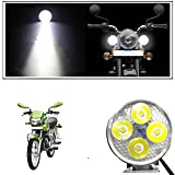 #5: Vheelocityin 4 Led Small Circle Motorcycle Light Bike Fog Lamp Light - 1 Pc For Hero Motocorp Hf Deluxe Eco