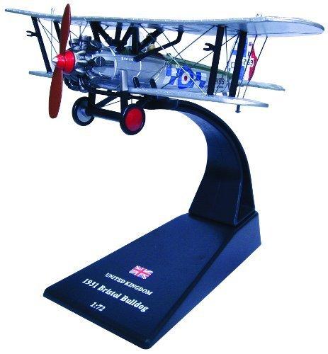 Bristol bulldog biplane fighter diecast 1:72 model