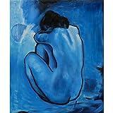 Picassos Blue Period (14inch x 17inch / 35cm x 42cm) Silk Print Poster - Soie Affiche - C3C287