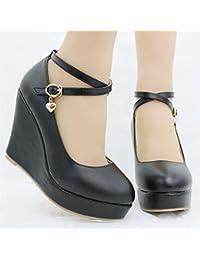 RFF-Frühlings-, Sommer- und Herbstschuhe Herr wasserdicht Taiwan weibliche Schuhe koreanische Version des Mädchens mit der Neigung Sandalen, weiß, 36