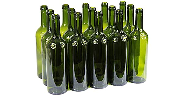 Wine Bottles with/without Corks Empty Glass Bottles 750 ml