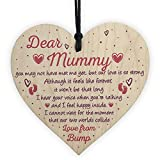 RED OCEAN Mummy To Be Gifts From Bump BABY SHOWER Baby Girl Boy Present Wooden Heart Keepsake