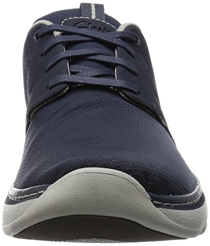 Clarks Charton Style, Derby homme Bleu (Navy Fabric)