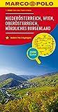 MARCO POLO Regionalkarte Österreich Blatt 1 Niederösterreich, Wien 1:200 000: Oberösterreich, nördliches Burgenland: Wegenkaart 1:200 000 (MARCO POLO Karten 1:200.000) -