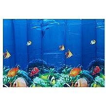 surreywhytel delfín peces tropicales Coral diseño marino para bañera y ducha cortina con 12ganchos Multicolor