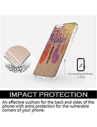 iCreat iPhone 5/5S Hülle i5 Handy Malerei Dream Catcher Ethnic Tribal bunte Feder Muster Hard Case Cover kühler Entwurf für Schutz I Phone 5 / 5S IPHONE 6/6S (4.7 Zoll)