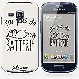 Coque Samsung Galaxy S3 mini de chez Skinkin - Design original : J'ai plus de Batterie par Shaman