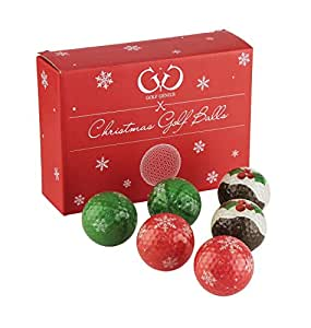 Golf Genius Novelty Gift Set of 6 Novelty Golf Balls - great gift for any golfer *GIFT BOXED* (Xmas)