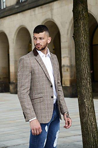 Cavani Blazer in tweed, da uomo Baron Brown/Tan