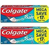 Colgate Active Salt Toothpaste, 300gm Saver Pack (Pack of 2)