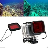 AST Works Red Underwater Diving Housing Case Lens Filter For Gopro Hero 5 Black Camera Cam