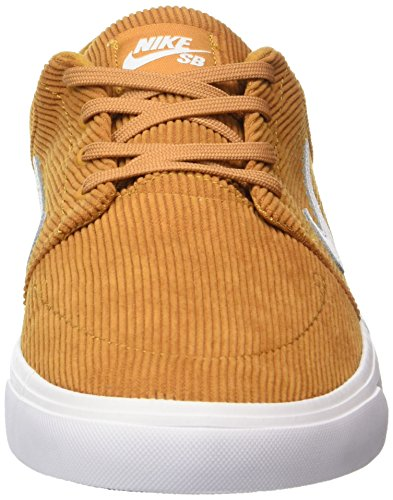 Nike Portmore Cnvs Premium, Scarpe da Skateboard Uomo Beige (Desert Ochre/white)