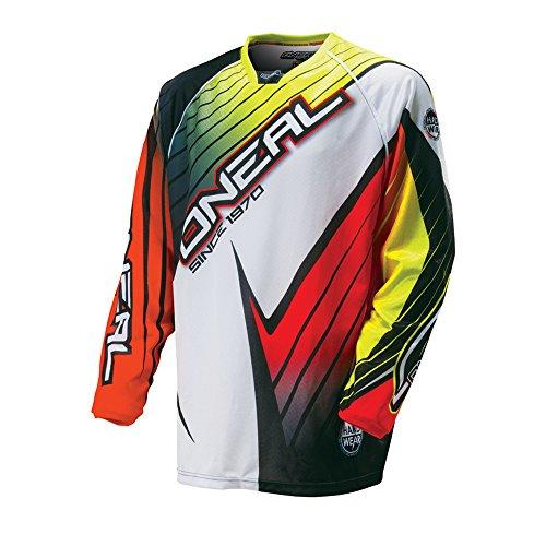 Atv Race Jersey (O'Neal Hardwear Jersey RACE Flow Orange Gelb Rot Motocross Enduro Cross Motorrad Trikot Shirt, 0027H-10, Größe S)