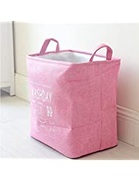 Pcarting Multipurpose Foldable & Collapsible Laundry Basket - Linen Laundry Bag With Handle - Storage Basket For...